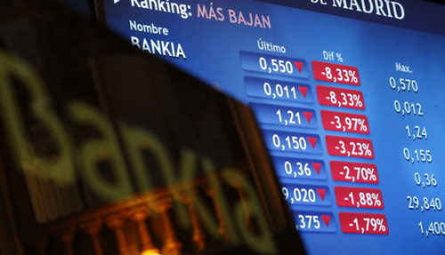 desplome acciones bankia