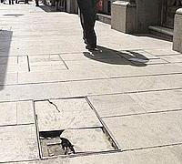 caidas en la calle