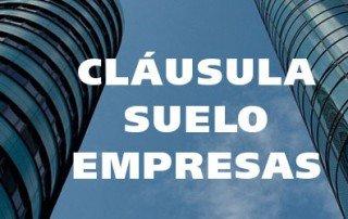 cláusulas suelo empresas