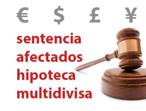 Sentencias de nulidad por Hipotecas multidivisa