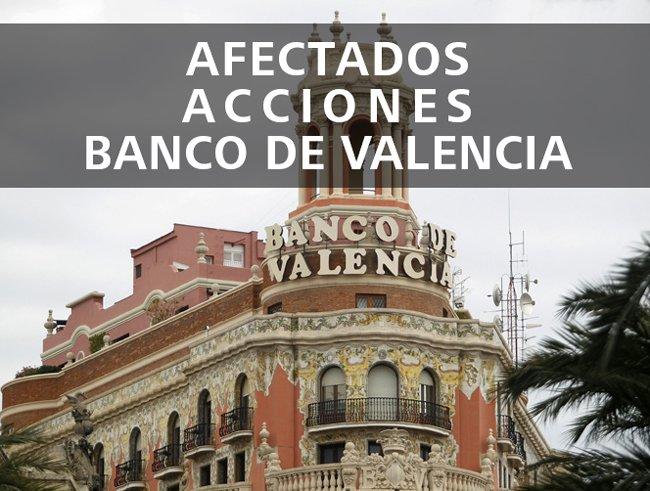 acciones banco de Valencia, afectados por las acciones